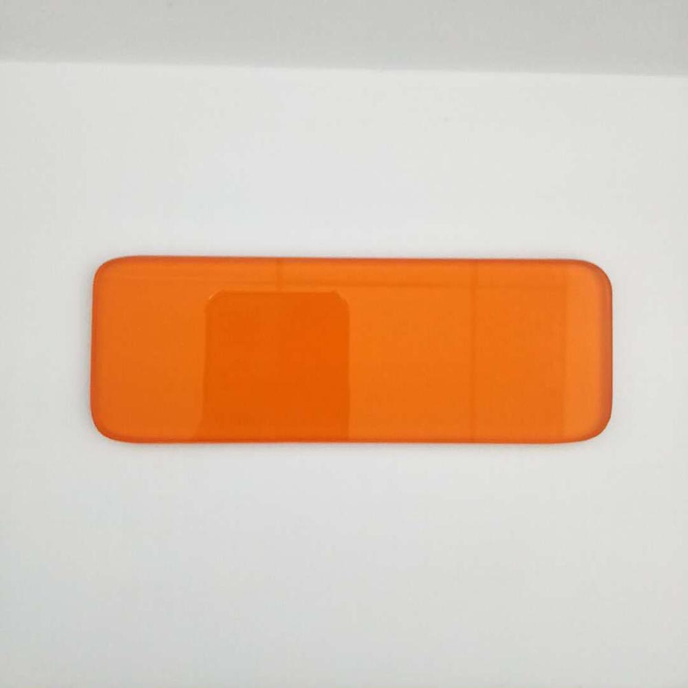 Color Glass Uncoated Yellow Optical Window Glass