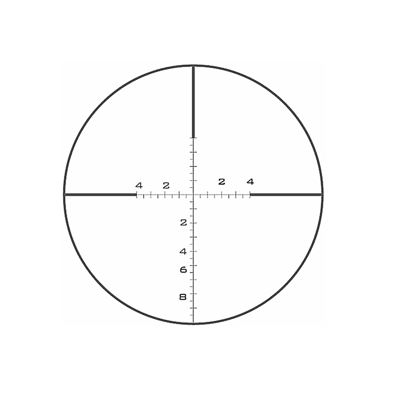 RCH-1202 Glass Reticle For Astronomy Binocular Crosshair Scale